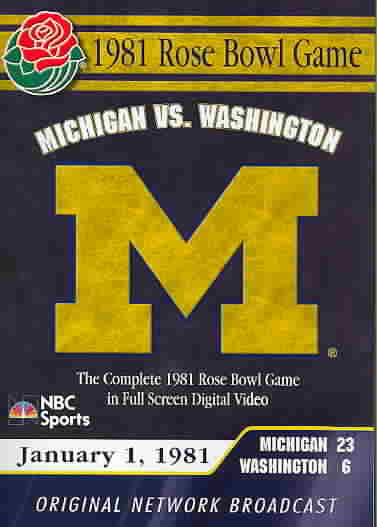1981 ROSE BOWL GAME (DVD)